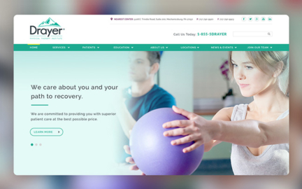 Drayer Physical Therapy website